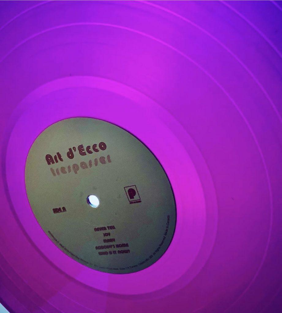 trespasser purple vinyl second pressing